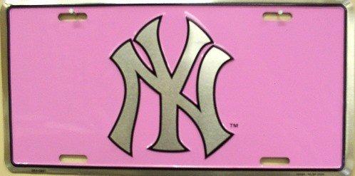 Pink Yankees Logo 6x12 New York Yankees PinkPink Yankees Logo