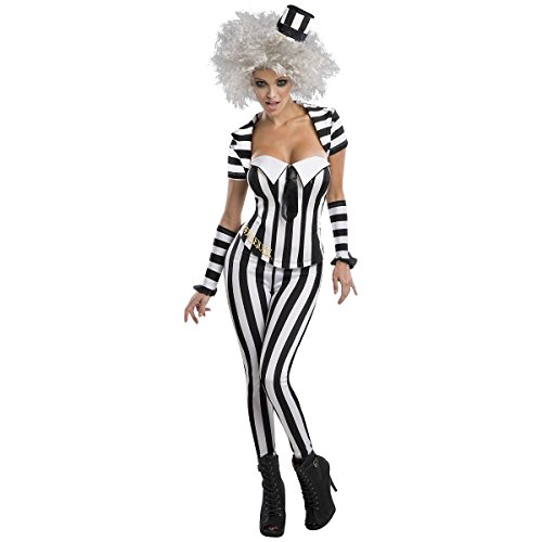 [GSG Female Beetlejuice Adult Funny Ghost Halloween Fancy Dress] (Female Master Chief Costumes)