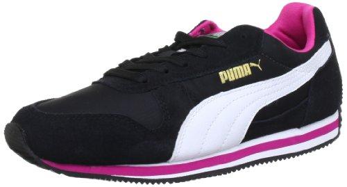 Puma Fieldsprint Wn's Low Top Womens Black Schwarz (black-white-cabaret 02) Size: 5.5 (38.5 EU)