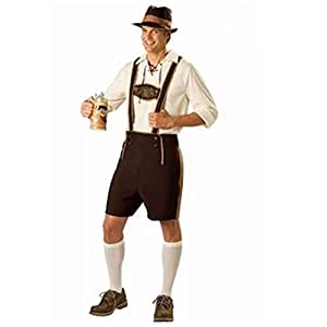 Men's Halloween Costumes Bavarian Guy Lederhosen Shorts