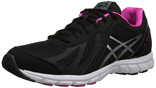 ASICS Women's Gel Frequency 3 Walking Shoe, Black/Silver/Pink, 9.5 M US