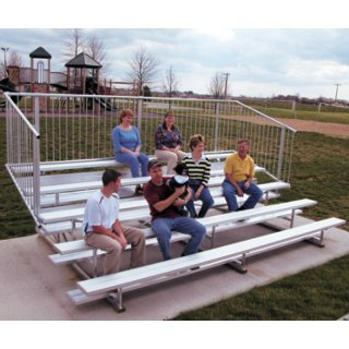 people sitting on bleachers