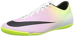 Nike Men\'s Mercurial Victory V IC White/Black/Volt/Total Orange Indoor Soccer Shoe 8.5 Men US