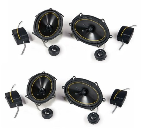"4) New Kicker Ds68.2 6X8"" 360W 2-Way Car Audio Component Speakers 2 Pair 11Ds682"