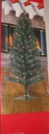 4 Foot Pre-Lit Noble Fir Tree Multi C…