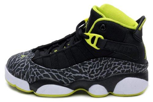 dae3a47073c Jordan Pre School 6 RINGS PS Black White Venom Green 323432 033 1 ...