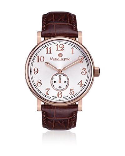 Mathieu Legrand Reloj de cuarzo MLG-1000C Marrón 42 mm