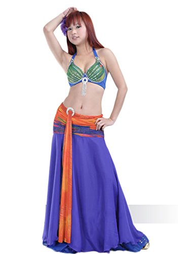 AveryDance Professional Belly Dance 2 Pieces Set Egyptian Costume