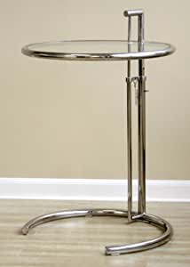 Classic Design Eileen Gray Stainless Steel Accent Side Table