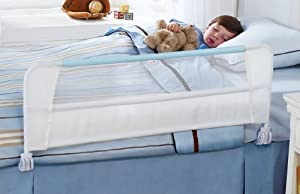 Munchkin Safety Toddler Bed Rail, White/Blue