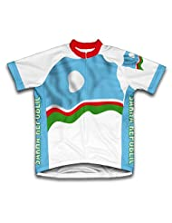 Sakha Republic Flag Short Sleeve Cycling Jersey for Women