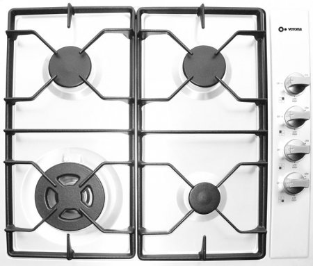 "Vectg424Sw 24"" Gas Cooktop 4 Sealed Burners Electric Ignition Lp Conversion Kit Included:"
