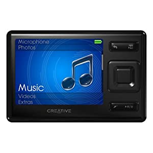 creative labs zen mx 16 gb mp3 player black electronics. Black Bedroom Furniture Sets. Home Design Ideas