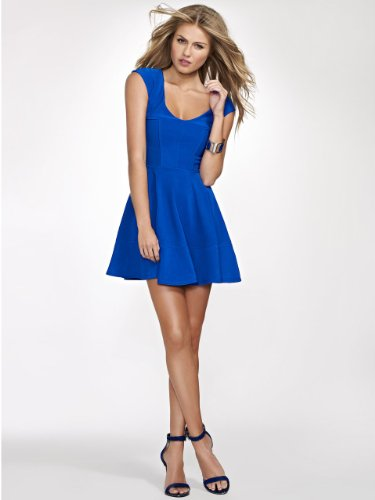 GUESS Fitted Dress with Circle Skirt