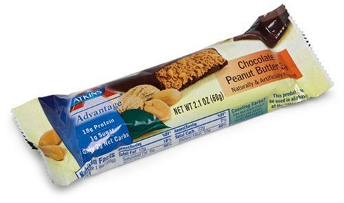 Atkins Advantage Bars, Chocolate Peanut Butter , 5 - 2.1-Ounce Bars (Pack of 2)