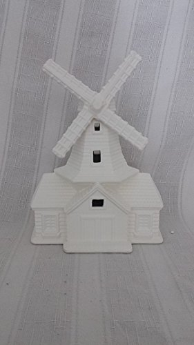 Windmill Village House ready to paint, ceramic bisque (Ceramic Village Houses compare prices)