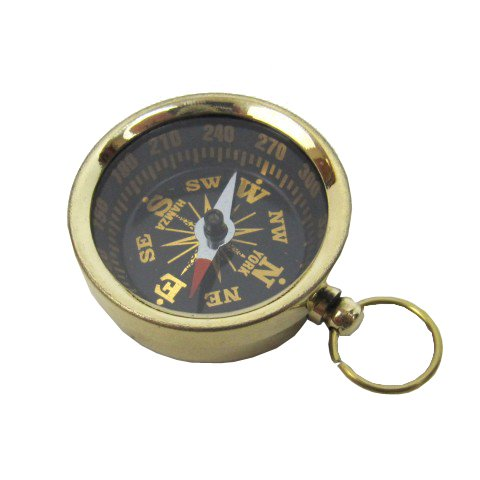 Solid Brass Pocket Compass 1 1/2