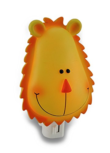 Childrens Orange and Yellow Lion Head Night Light