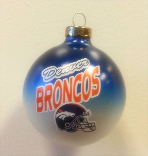 Denver Broncos NFL Christmas Ornament 2 5/8″