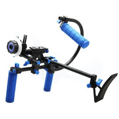 CamSmart DSLR Rig Set with Shoulder Mount and Top Handle and Follow Focus for Video Camcorder Camera DV DSLR Cameras... Black Friday & Cyber Monday 2014