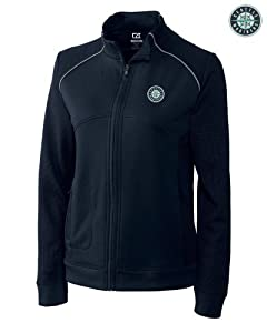 Seattle Mariners Jackets - Cutter & Buck MLB Ladies Ladies CB DryTec Edge Full... by Cutter & Buck