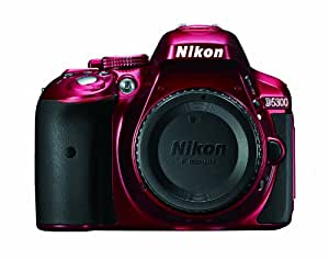 Nikon D5300 24.2 MP CMOS Digital SLR Camera with Built-in Wi-Fi and GPS Body Only (Red)