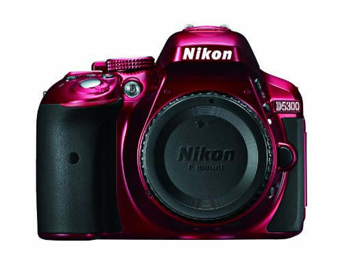 Nikon D5300 DSLR Camera, Body Only (Red)