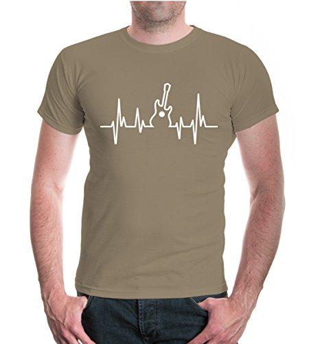 T-Shirt-Musikfrequenz-Gitarre