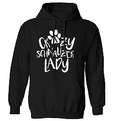 Crazy schnauzer lady hoodie XS - 2XL