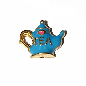 love tea teapot 10mm floating charm fits living memory