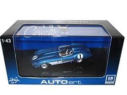 1957 Chevrolet Corvette SS Blue 1/43 Diecast Model Car Autoart