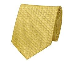 Tiekart Self Design Men'S Tie (Dm196_Yellow)