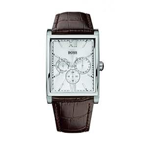 Hugo Boss - 1512402 - Montre Homme - Quartz Analogique - Cadran Argent - Bracelet Cuir Marron