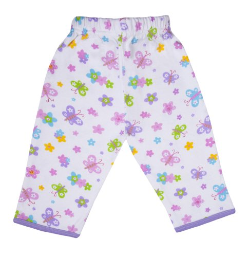 Funkoos-Newborn-Infant-Toddler-Butterfly-Print-Baby-Organic-Cotton-Pant-3-6-Months