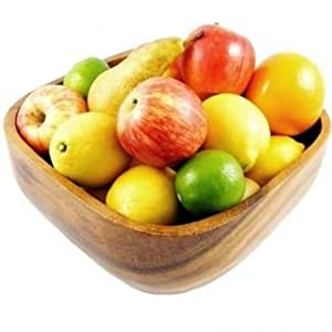Acacia Wood Square Fruit Bowl By Verygoodbuys