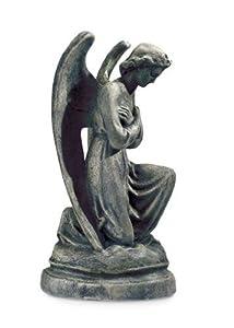 LadyBug Kneeling Angel Outdoor Statue, Moss