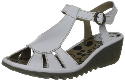 Fly London Women's Oily Off White T Straps P500384000 6 UK