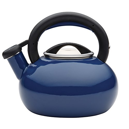 Circulon Teakettles Sunrise Whistling Teakettle, 1 1/2-Quart, Navy Blue (Tea Kettles compare prices)