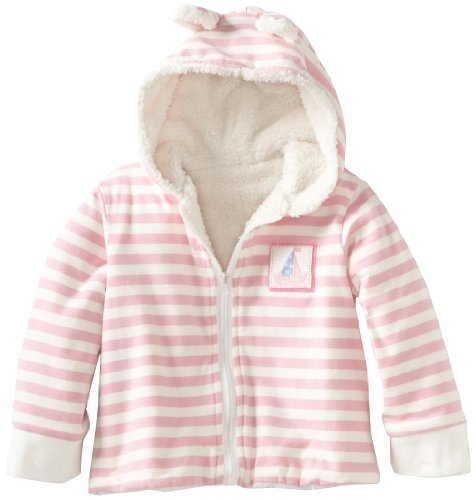 Bunnies By The Bay Baby-girls Newborn Fair Seas Jacket, Pink/White, 6-12 Months