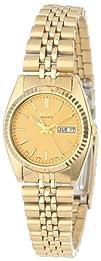 Seiko Womens SWZ058 Dress Gold-Tone Watch