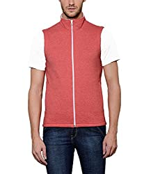 Scott Mens Red Melange Cotton Sleeveless Jacket - FBA jslv5xxl