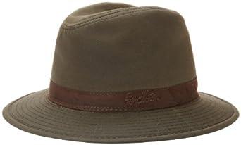 Pendleton Men's Wool-Lined Oilskin Hat, Brown, Small