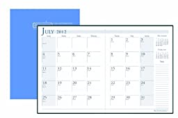 House of Doolittle 14 Month Academic Economy Planner July 2012 to August 2013, 7 x 10 Inches with Bright Blue Leatherette Cover Recycled, Made in USA (HOD26108)