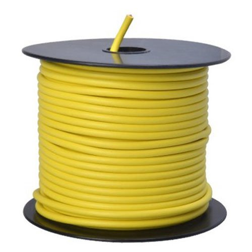 Southwire 55671723 Primary Wire, 12-Gauge Bulk Spool, 100-Feet, Yellow (Color: Yellow, Tamaño: 12-Gauge)