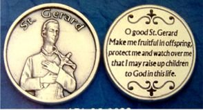 St. Gerard Commemorative Pocket Token, Patron Saint of Mothers