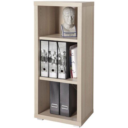 Libreria componibile in kit tre vani stretta legno for Piccole librerie in legno