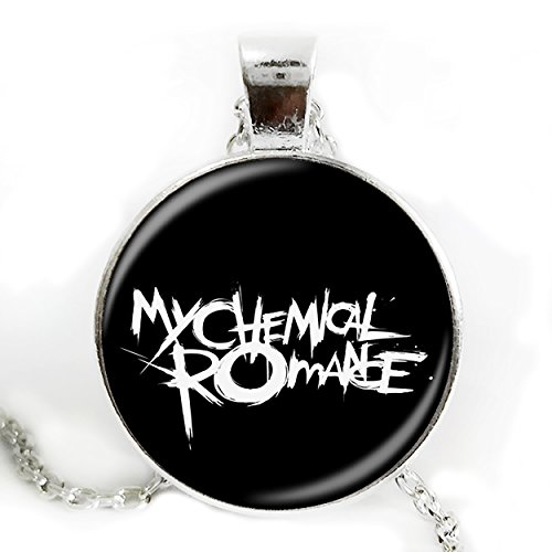 [My Chemical Romance Pendant Silver Chain Necklace] (Danger Mouse Halloween Costume)