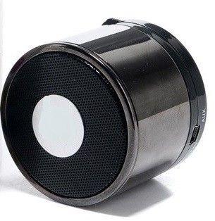 Best Shopper - Mini Bluetooth Wireless Mp3 Portable Hands-Free Speaker - Chrome Black