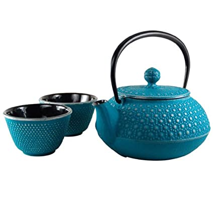 Honeycomb Turquoise Tetsubin Tea Set