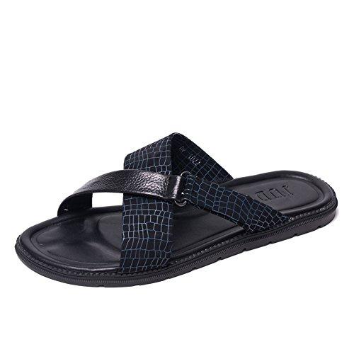 I nuovi sandali/sandali/Pantofole di marea maschile/Estate flip-flop uomo/scarpe da uomo in pelle-B Lunghezza piede=26.3CM(10.4Inch)